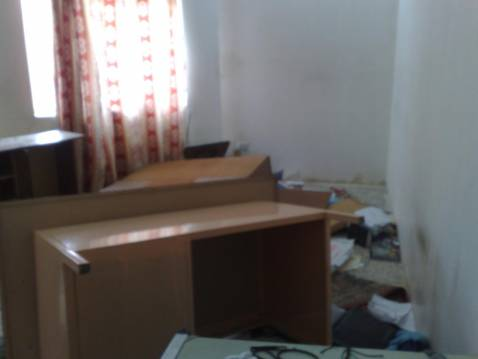 Overturned furniture and ransacked belongings after a special forces raid in northeast Baghdad on Friday.