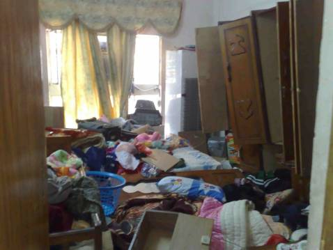 Another view of the bedroom after the Friday morning raid.