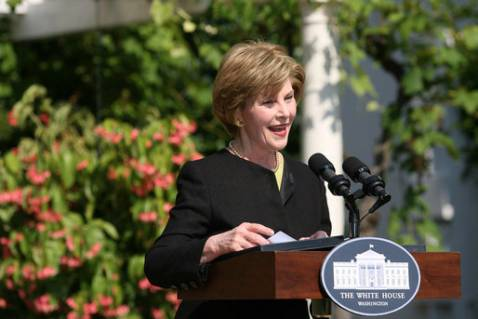 Mrs. Laura Bush speaks during a celebration of World Refugee Day Friday, June 20, 2008, at the White House.
