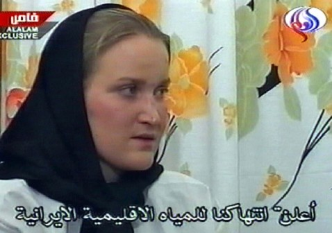 Faye Turney in a video broadcast on al-Alam TV March 28.