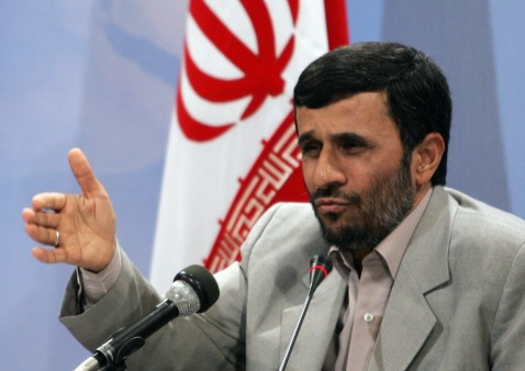 Tehran, IRAN: Iranian President Mahmoud Ahmadinejad speaks at a news conference in Tehran, where he announced that the 15 British sailors captured by Iran will be released immediately after the presser 04 April 2007.