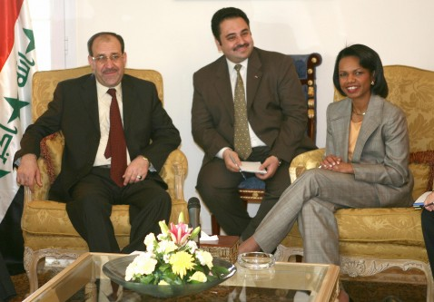 Iraqi PM Maliki and US Secretary of State Rice Meeting Today in Sharm El Sheik.