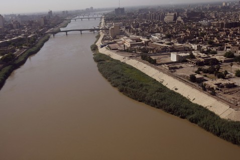 The river Tigris running through Baghdad