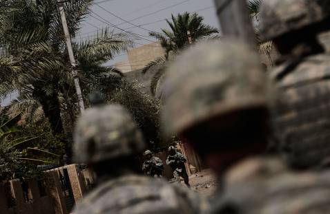 US Forces patrol Baghdad's Dora district in June.