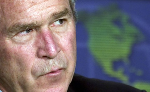Arlington, UNITED STATES: US President George W. Bush speaks during a White House Conference on the Americas in Arlington, Virginia, 09 July 2007.