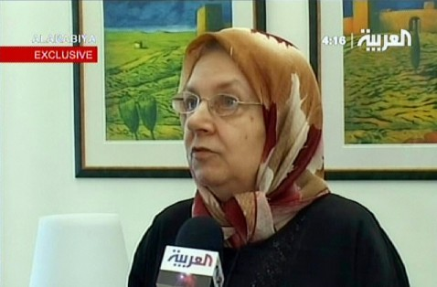 Baghdad, IRAQ: A video grab taken from Arab news channel Al-Arabiya, 11 July 2007 shows the released German hostage Hannelore Krause during an interview in Baghdad, 11 July 2007.
