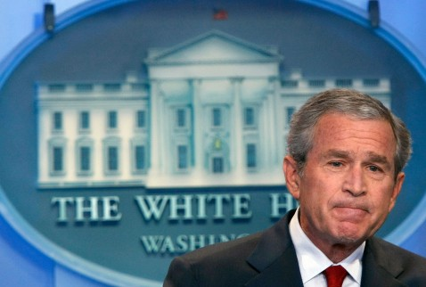WASHINGTON - JULY 12: U.S. President George W. Bush listens to a question about the war in Iraq during a press conference July 12, 2007 at the White House in Washington, DC.