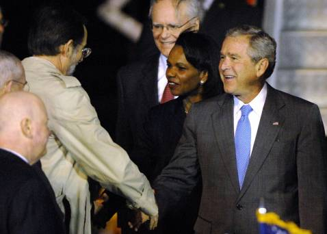 President Bush arriving in Sydney Tuesday, September 4.