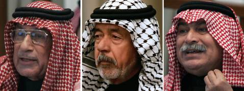 A combo of file pictures shows the condemned cohorts of Saddam Hussein, (L-R), army deputy chief Hussein Rashid al-Tikriti, Ali Hassan al-Majid, also known as 'Chemical Ali', and Saddam's defence minister Sultan Hashim al-Tai.