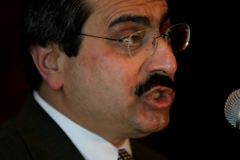 NEW YORK - MARCH 20: Iranian dissident Alireza Jafarzadeh charges in a speech arranged by his consulting firm that Iraqi militias are training in secret camps in Iran March 20, 2007 at the Millennium U.N. Plaza Hotel in New York City.