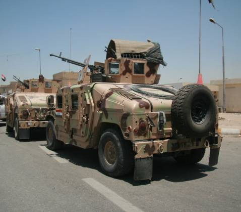 File Photo: Iraqi Army Vehicles in Sadr City