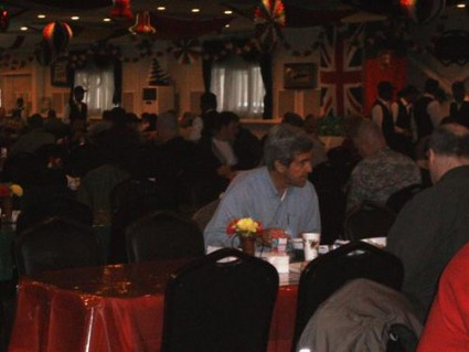John Kerry in the U.S. embassy dining room in Baghdad in mid-December
