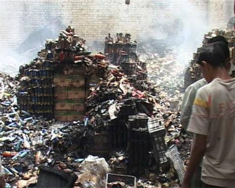 After a Large Fire in Basra's Wholesale Market