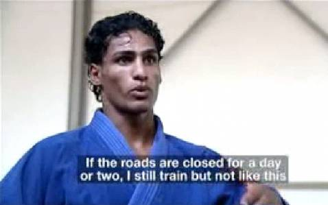 Iraqi Olympian describes challenges to his training regime.