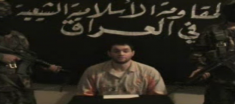 Screen grab from video of British hostage Jason, who was seized from a Finance Ministry building in May.