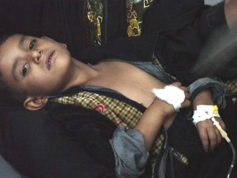 One of cholera's smallest victims in Basra