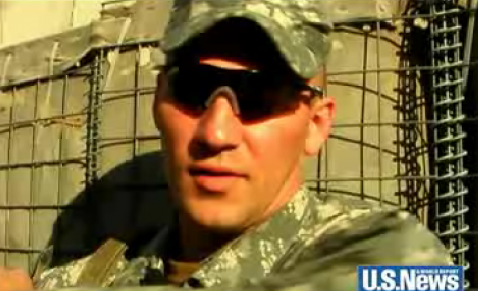 Screen grab of US News and World Report video of Staff Sgt. Darrell Griffin Jr.