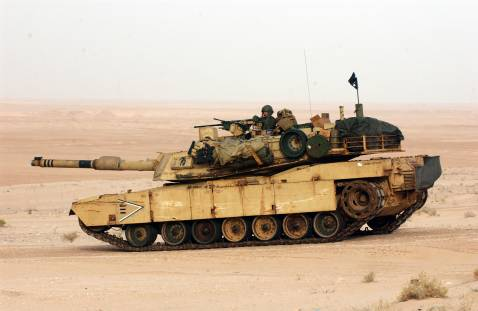 US Marines M1-A1 on exercises, 2003. Iraq has requested 140 of the tanks.