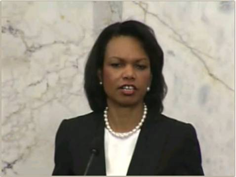 US Secretary of State Condoleezza Rice in Stockholm, May 29, 2008.