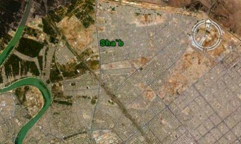 Composite satellite image shows Sha'b district in northeastern Baghdad.