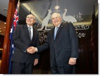 John Howard and Dick Cheney in Sydney today
