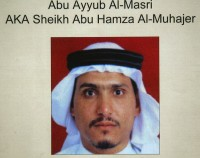 Undated picture released by the US Army in June 2006, showing Abu Ayyub al-Masri, also known as Sheikh Abu Hamza al-Mohajer.