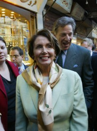 Speaker Pelosi tours the Old City of Damascus on Tuesday.
