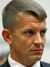 WASHINGTON - OCTOBER 02: Erik Prince, chairman of the Prince Group, LLC and Blackwater USA, listens to questions during a House Oversight and Government Reform Committee hearing on Capitol Hill October 2, 2007 in Washington DC.