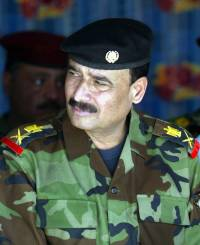 Major General Abdul Jalil Khalaf, police chief of Basra, attends the opening ceremony of the 14th Iraqi Army Division headquarters in Basra on November 7.