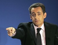 French Interior Minister and Presidential hopeful Nicolas Sarkozy, Feb 28, 2007