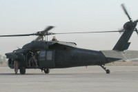 A Black Hawk helicopter in Mosul, Iraq in 2004.