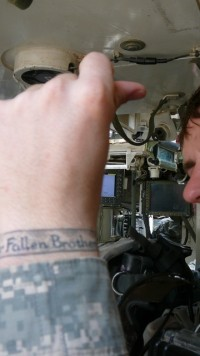 Sergeant Michael Alsip, 5-20 Stryker Sattallion tattooed it on his wrist after his first deployment to Iraq