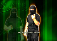 Screen grab from apparent Islamic State of Iraq video.